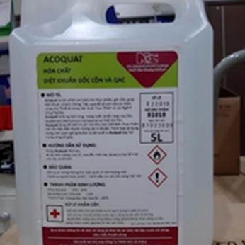 Dung dịch sát khuẩn gốc cồn và QAC Acoquat (Hóa chất diệt khuẩn gốc cồn và QAC) (Can 5 lít)