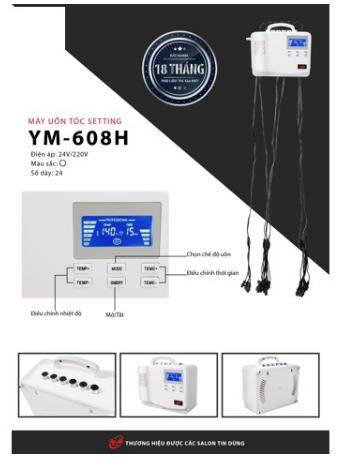 MÁY UỐN TÓC SETTING MINI YM-608H (220V)