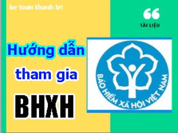 Hướng dẫn tham gia BHXH