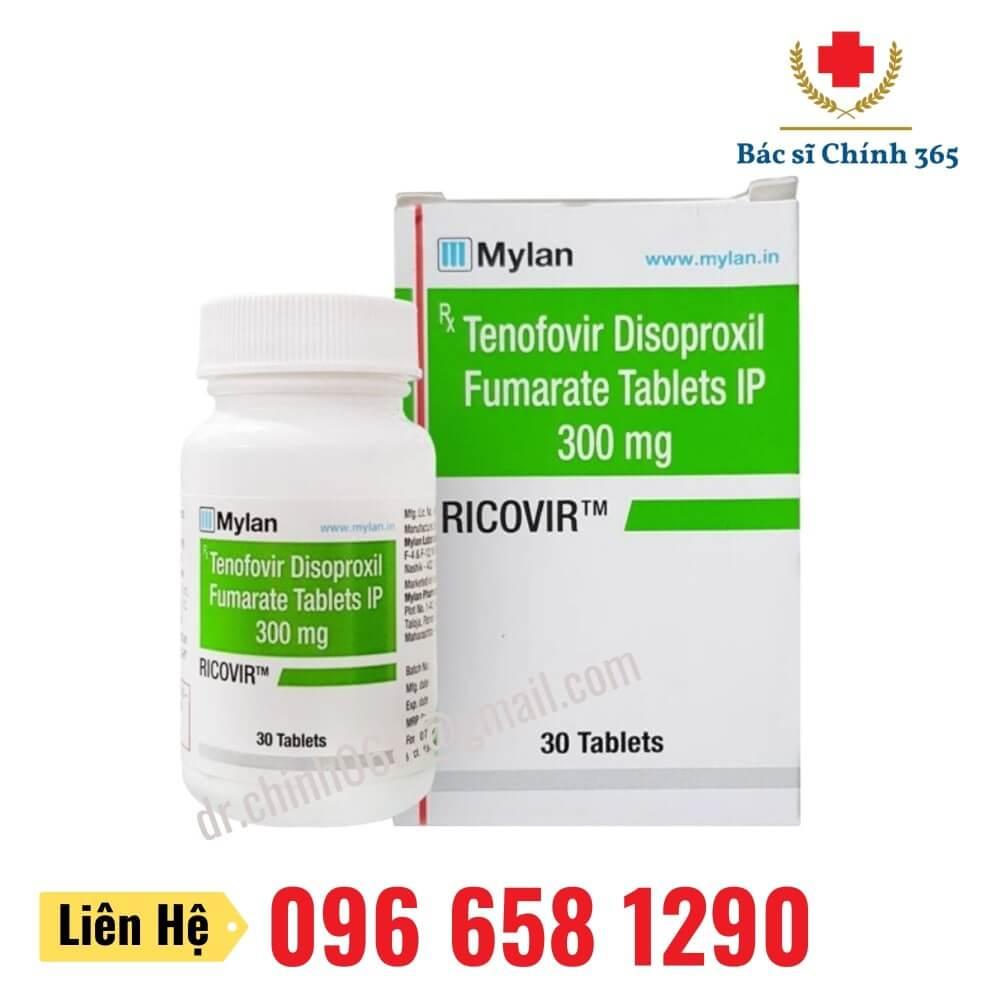 Thuốc RICOVIR 300mg (Tenofovir)