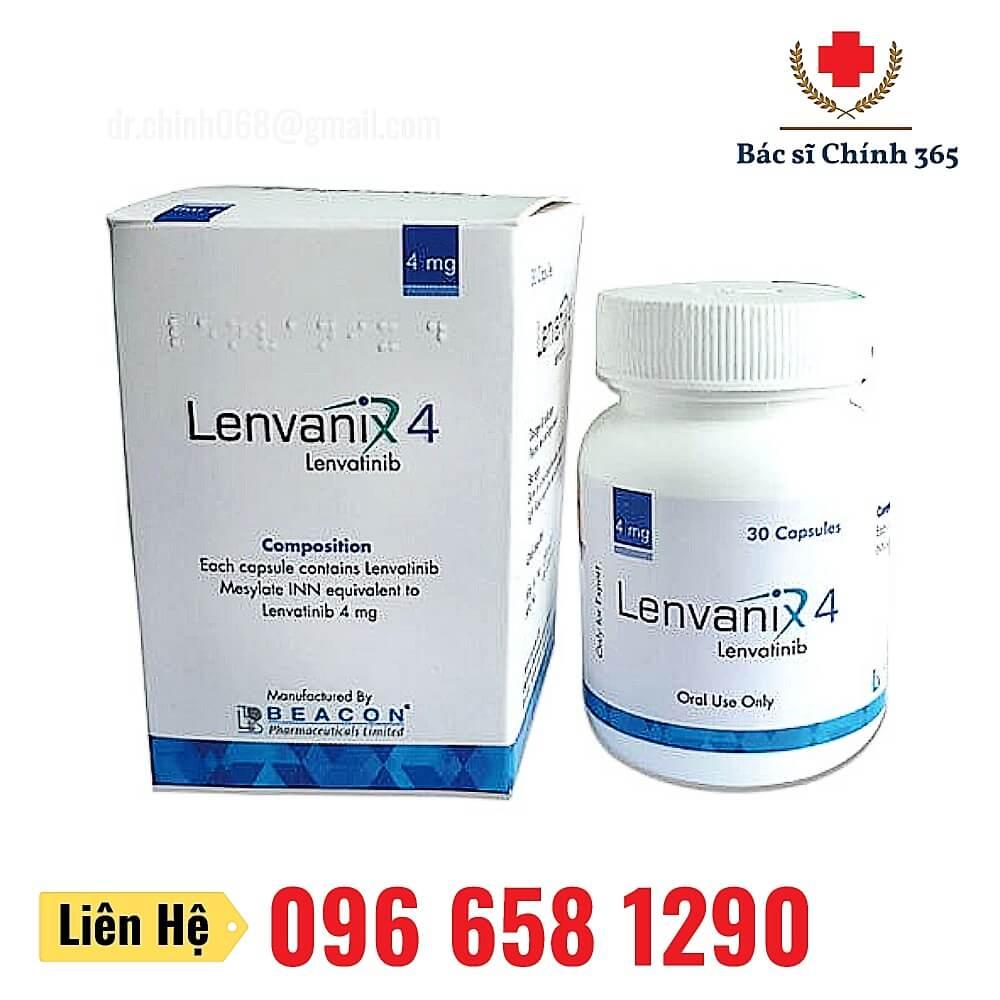 Thuốc Levanix điều trị ung thư tuyến giáp, gan, thận