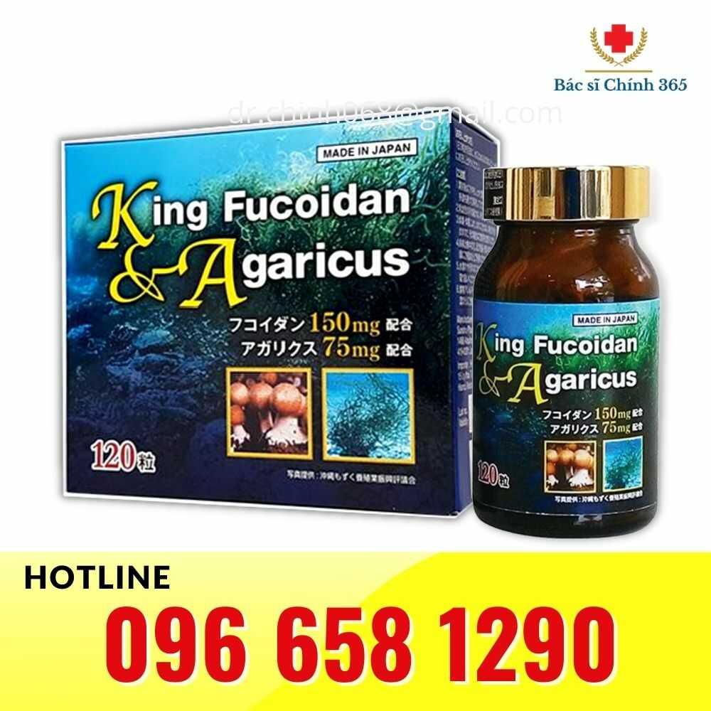 King Fucoidan & Agaricus hộp 120 viên