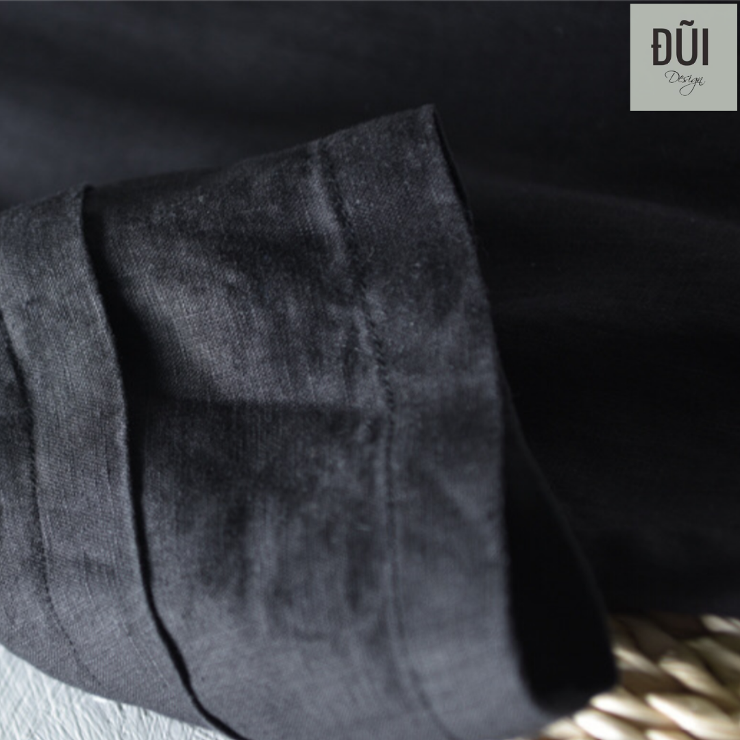 Áo đũi nam chui đầu có mũ đen M14