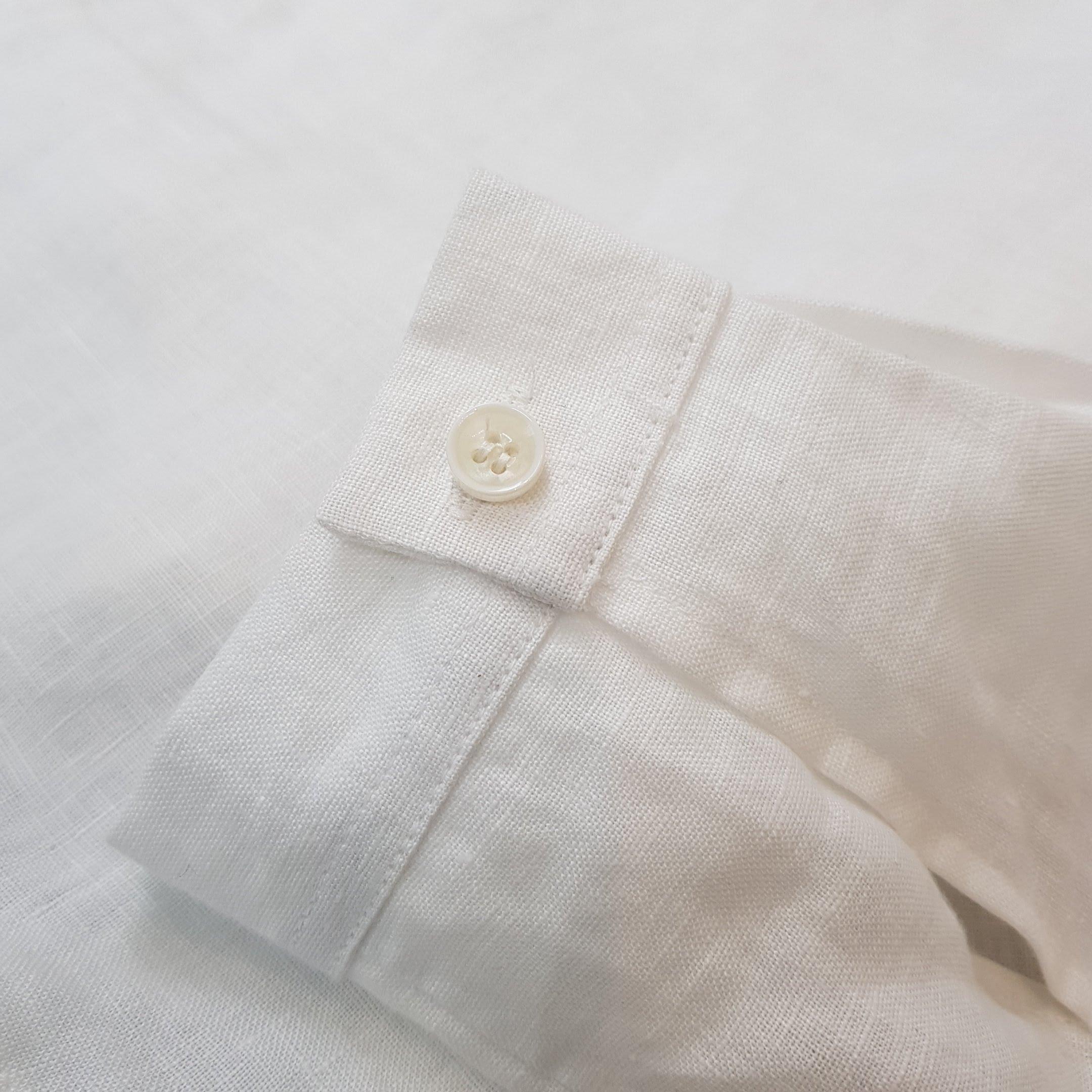 Áo đũi nam chui đầu dài tay trắng M7