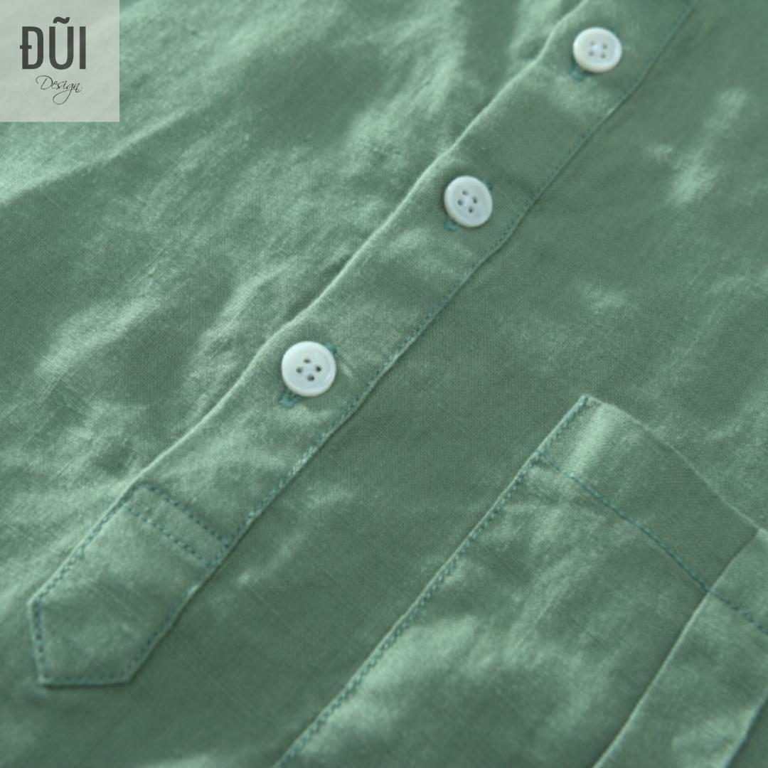 Áo đũi nam chui đầu cộc tay xanh M12