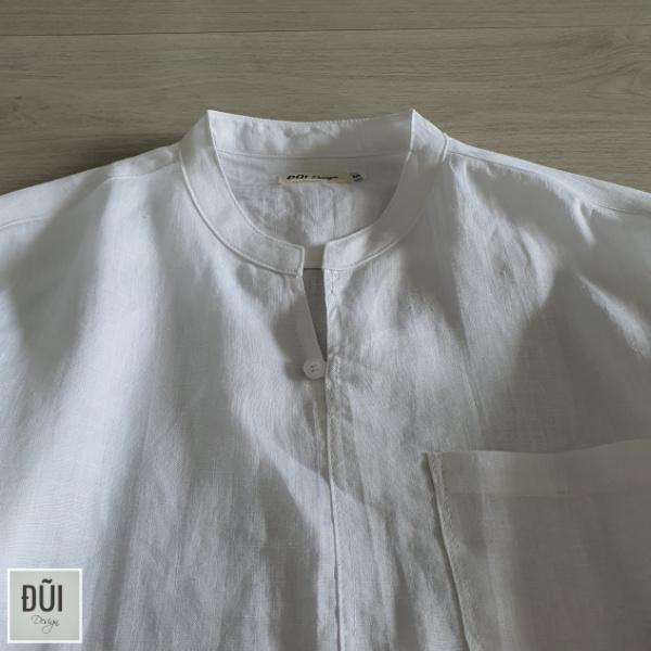 Áo đũi nam chui đầu cộc tay trắng M13