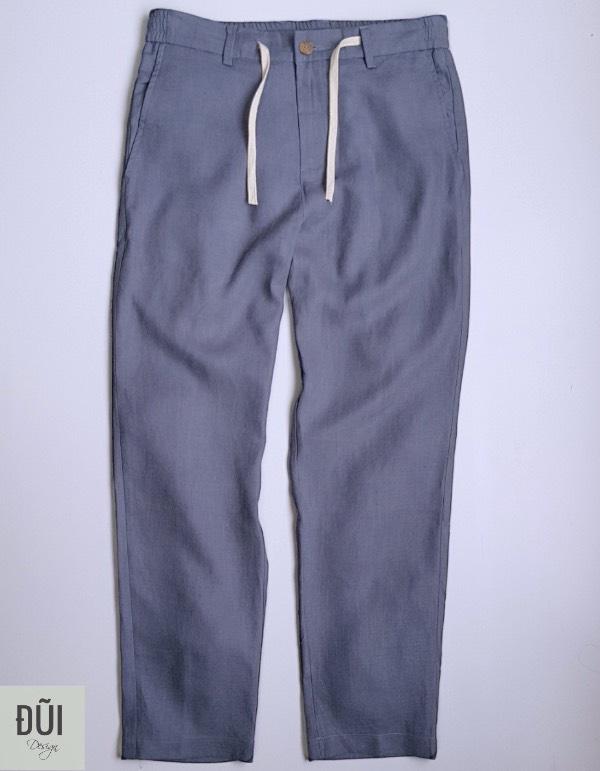 Quần đũi nam dài ống côn xanh ghi