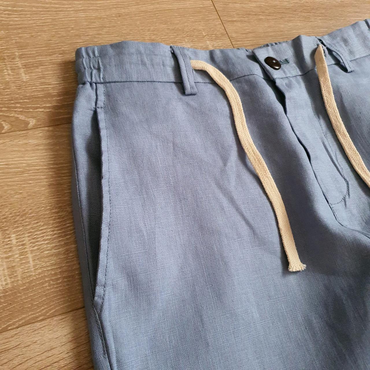 Quần đũi nam dài ống côn xanh
