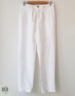 Quần đũi nam dài ống côn trắng