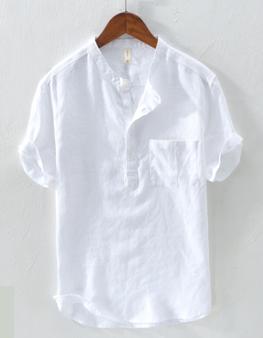Áo đũi nam chui đầu cộc tay trắng M12