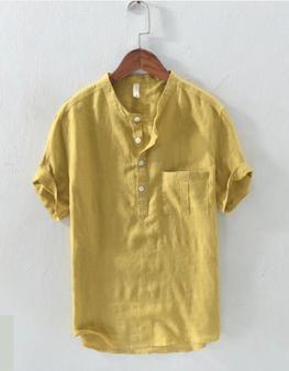 Áo đũi nam chui đầu cộc tay vàng M12