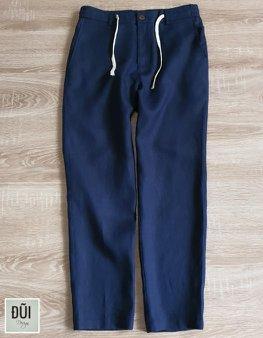 Quần đũi nam dài ống côn xanh đen