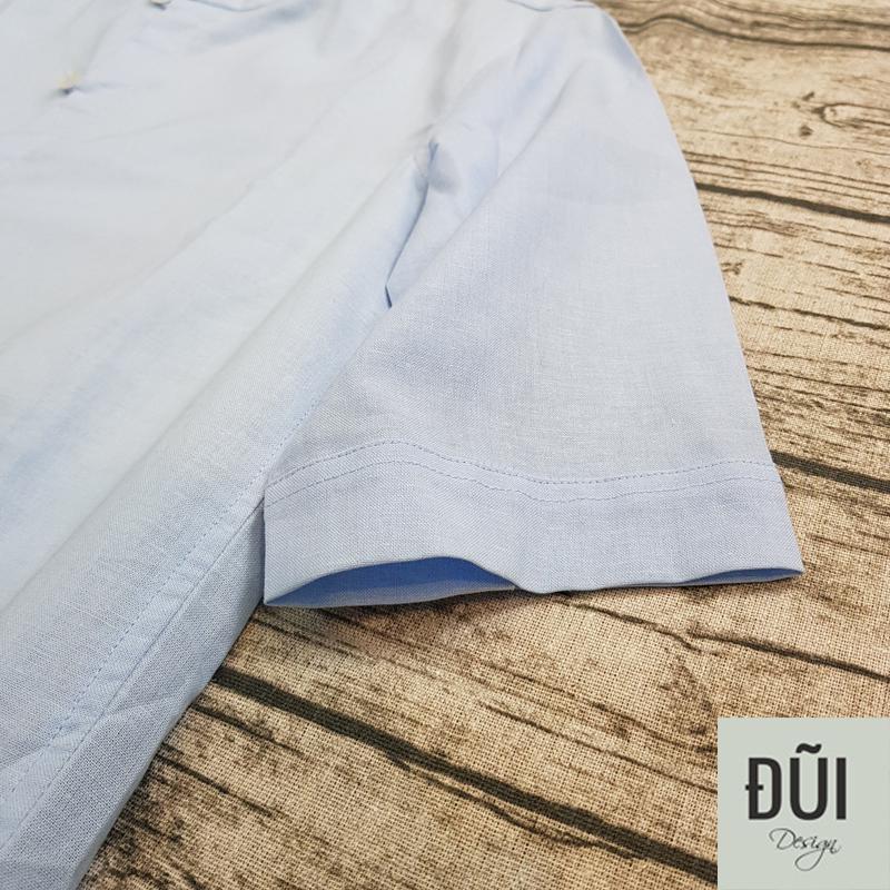 Áo đũi nam xanh chui cộc tay M3