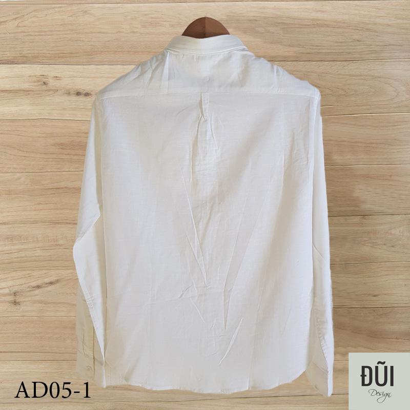 Áo đũi sơ mi nam trắng dài tay mẫu 4