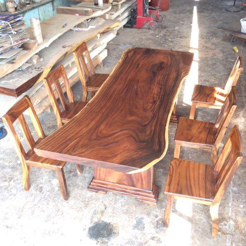 Điều đặc biệt của bàn gỗ me tây nguyên tấm tại hcm