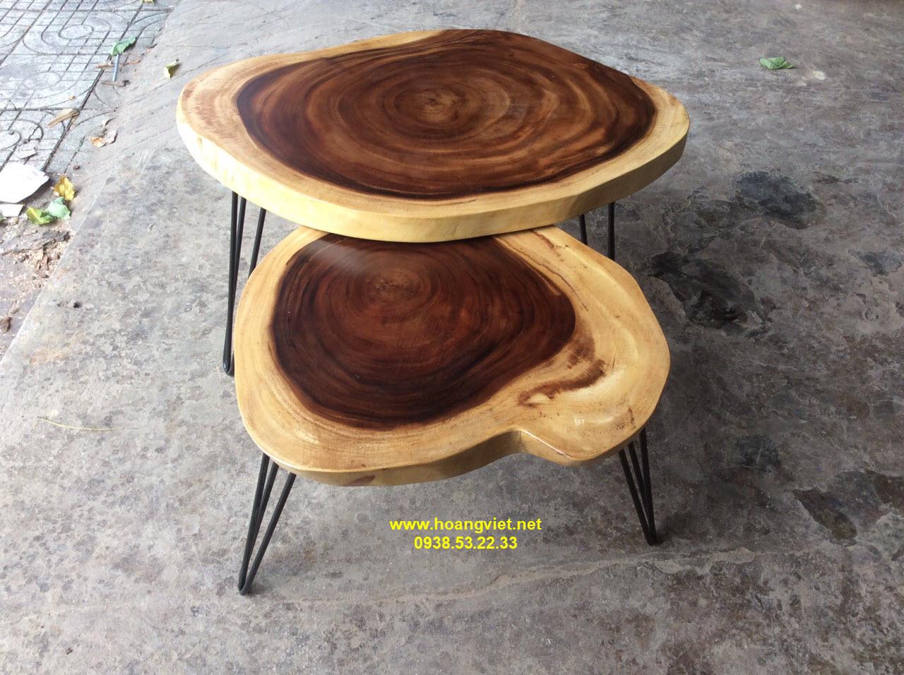Cung cấp bàn sofa gỗ me tây nguyên tấm.