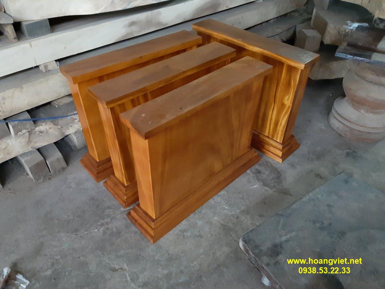 Chân bàn gỗ nguyên khối đẹp