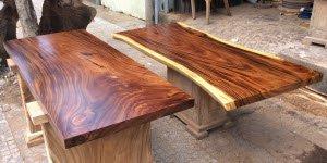 Giá mặt bàn gỗ me tây bao nhiêu