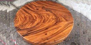 Vẻ đẹp hút hồn của gỗ me tây nguyên khối.