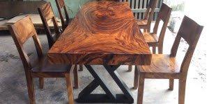 Bảng giá bàn ghế gỗ nguyên khối tại TPHCM
