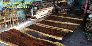 Cách tính giá mặt bàn gỗ me tây nguyên tấm