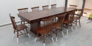 Kích thước bàn ghế gỗ nguyên khối tiêu chuẩn là bao nhiêu?