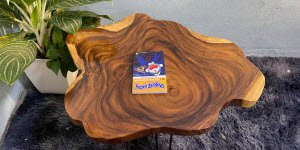 Kích thước bàn trà tròn gỗ tự nhiên nguyên khối theo tiêu chuẩn.
