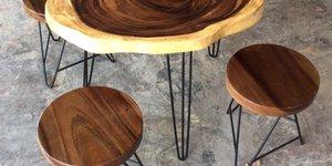 Có bao nhiêu loại mặt bàn gỗ me tây tròn?