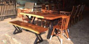 Top 5 mẫu bàn ăn gỗ nguyên khối bán chạy nhất.