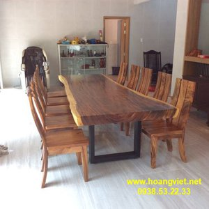 Mặt bàn gỗ nguyên tấm giá rẻ (90-100)x10x304cm