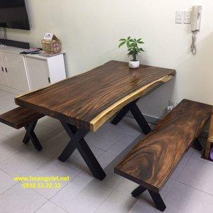 Bộ bàn ghế k3 nguyên khối 80x7x140cm