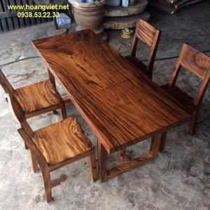 Bàn gỗ me tây giá rẻ 70x5x172cm