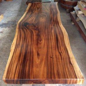 Mặt bàn gỗ me tây (80-100)cm x 7cm x 250cm