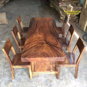 Bàn gỗ nguyên tấm giá rẻ 81x10x212cm