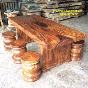 Bàn gỗ nguyên tấm tại TPHCM 89x10x212cm