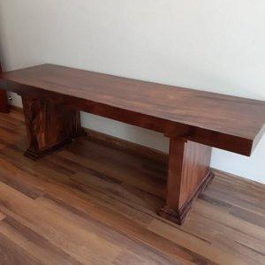 Bàn làm việc gỗ me tây 70x10x237cm