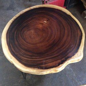 Bàn cafe tròn chân sắt đk 55-60cm dày 5cm