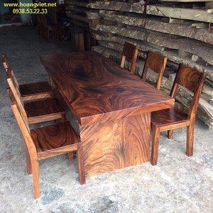 Bộ bàn ăn 6 ghế gỗ me tây