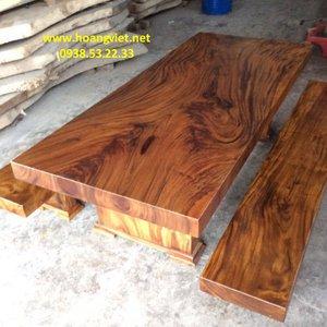 Bộ bàn ghế gỗ 3 tấm 109x11x253cm