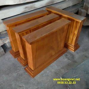 Chân bàn gỗ nguyên khối cao 66cm dày 10cm rộng 69cm