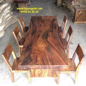 Giá bàn ăn gỗ nguyên khối 94x11x253cm