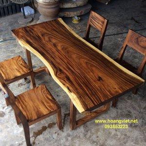 Bàn ghế gỗ còng (70-80)x5x172cm