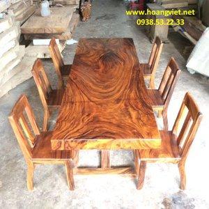 Giá bàn gỗ nguyên tấm 81x10x245cm