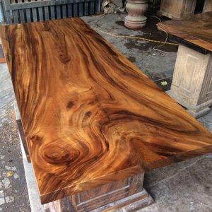 Bàn ăn gỗ me tây nguyên tấm 70x5x170cm