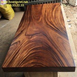 Mặt bàn gỗ me tây tphcm 81x10x212cm