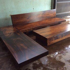 Sofa gỗ nguyên tấm hình chữ L
