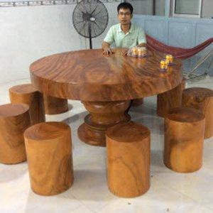 Bộ bàn ghế gỗ nguyên tấm