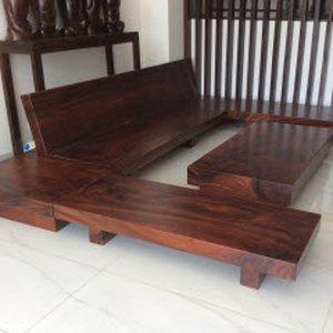 Sofa gỗ nguyên khối hình chữ U