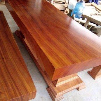 Bàn ghế gỗ nguyên tấm