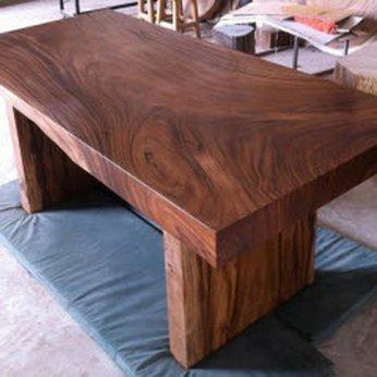 Bàn làm việc gỗ nguyên khối